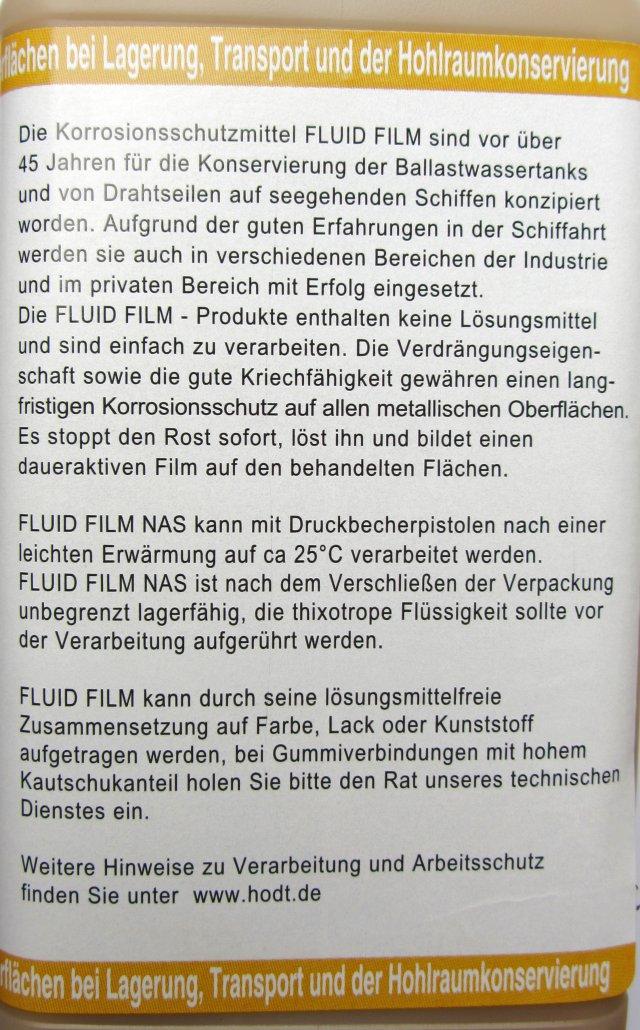 fluid film nas 1 liter unterbodenschutz hohlraumschutz rostschutz ebay. Black Bedroom Furniture Sets. Home Design Ideas